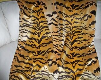 SCALAMANDRE Le TIGRE Tiger Silk Velvet Fabric CUSTOM Throw Blanket Kravet Velvet