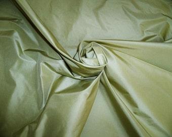 KOPLAVITCH & Zimmer CHARTREUSE GREEN  Silk Taffeta Fabric 10 yards