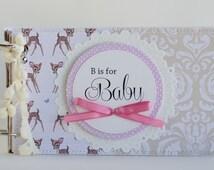 Keepsake Memory Book of Baby's First Year, Personalized Baby Shower Keepsake Memory Book, Baby Photo Book, Keepsake Flap Book