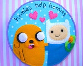 Finn and Jake Adventure Time Embroidery