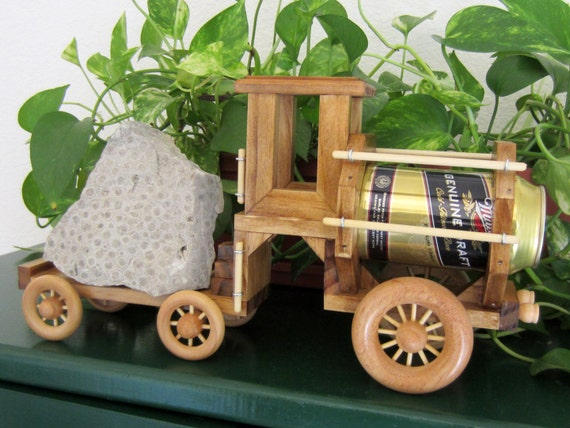 It's a Truck - It's a Train - It's a Tractor - It's a BeerTender Vehicle - available in Golden Oak stained finish