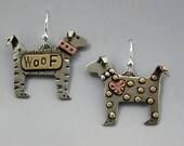 Dog Earrings,Silver Dog Earrings, Terrier Earrings, Dog Lovers Jewelry, Gifts for Dog Lovers, Doggy Jewelry, RP0298ER