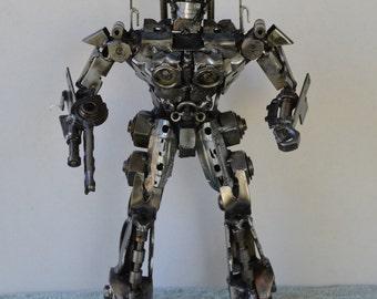 "Hand Made OPTIMUS PRIME TRANSFORMERS 14""  Recycled Scrap Metal Sculpture"