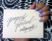 Modern Calligraphy Envelopes - Custom order for Kim Gaskins