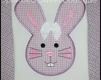 Easter Bunny Applique Shirt - Can change fabric to any color you want!