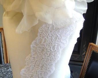 Alencon Bridal lace trim-Lace Trim 1-012