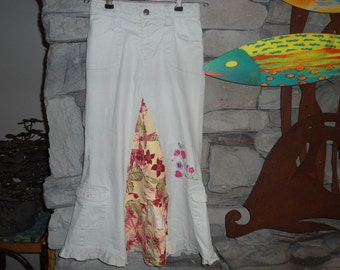 Up Cycled Little Girls Maxi Skirt from pants size 6
