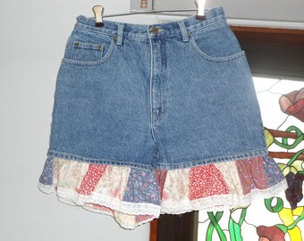Country Girl Denim Ruffled Shorts size 9-10