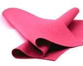 """Wool Felt Sheet - 100% Wool Felt in Color LIGHT RASPBERRY - 18"""" X 18"""" Wool Felt - Merino Wool Felt - European Wool Felt"""