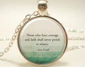 Personalized Quote Necklace, Custom Pendant For Song Lyrics, Poem, Or Text (1742S1IN)