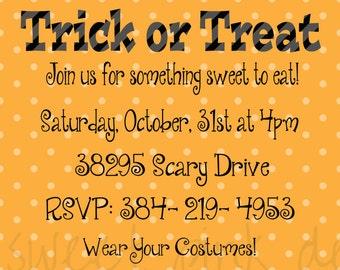 Candy Corn Invitation