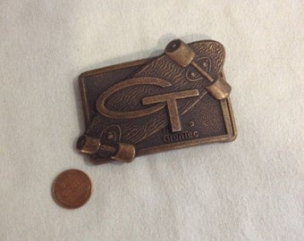 GT by GrenTec skateboard Metal belt buckle