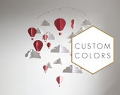 Customized Hot Air Balloon Paper Mobile (L)