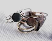 Bracelet Choose one Copper, Silver, or Bronze Bracelet with a Blank Bezel for Cabachon or Resin