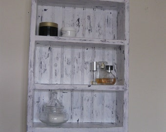 bathroom cabinet cottage cabinet shabby chic rustic shelf with two