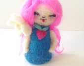 Waldorf Inspired Needle Felted Kokeshi Doll Finger Puppet by Hello Kokeshi (Eco Friendly Naturally)