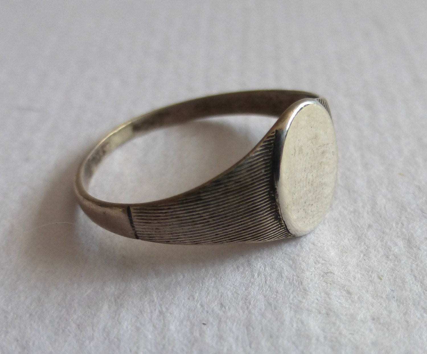 sterling silver oval signet ring by bsvgoods on etsy