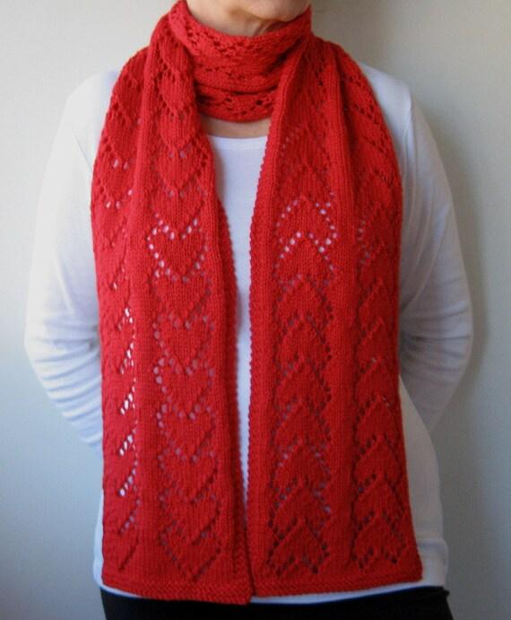 Fishnet Scarf Knitting Pattern : Scarf Knitting PATTERN PDF Knitted Scarf Lace by KnitsByJoDesigns