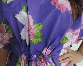 Floral Kaftan , Caftan, Perfect dress, For to be Moms, beach cover up, Sleepwear, Best Gift for her