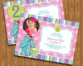 Monster Inc Birthday Party Invitations for Girls
