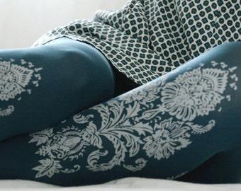 Paisley  print opaque tights (F142-TLG)- Zohara tights