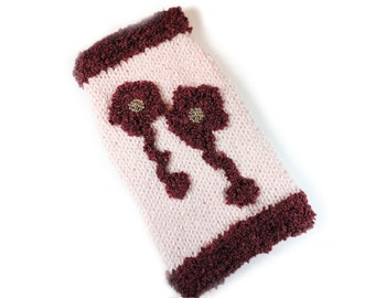 Pale Pink and Brown Dog Sweater