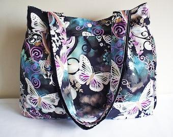 Sewing Pattern Large Tote Bag with Gusset PN102 Bernadette Shoulder Bag