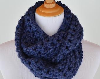 Infinity Blue Crochet Scarf
