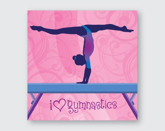 Gymnastics Wall Art I Love