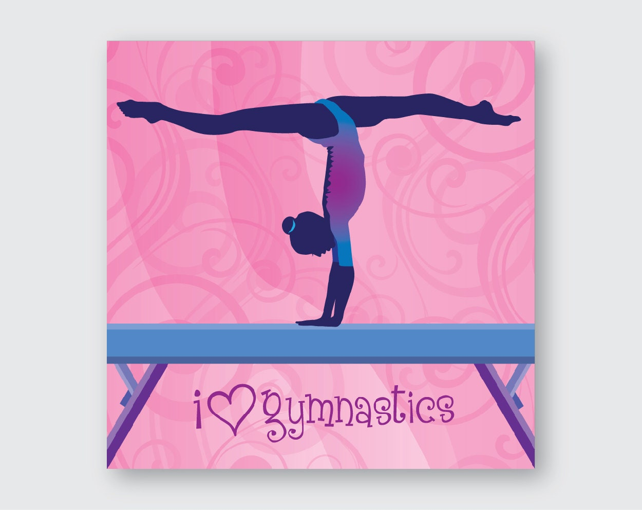 I love gymnastics wall art zoom amipublicfo Image collections