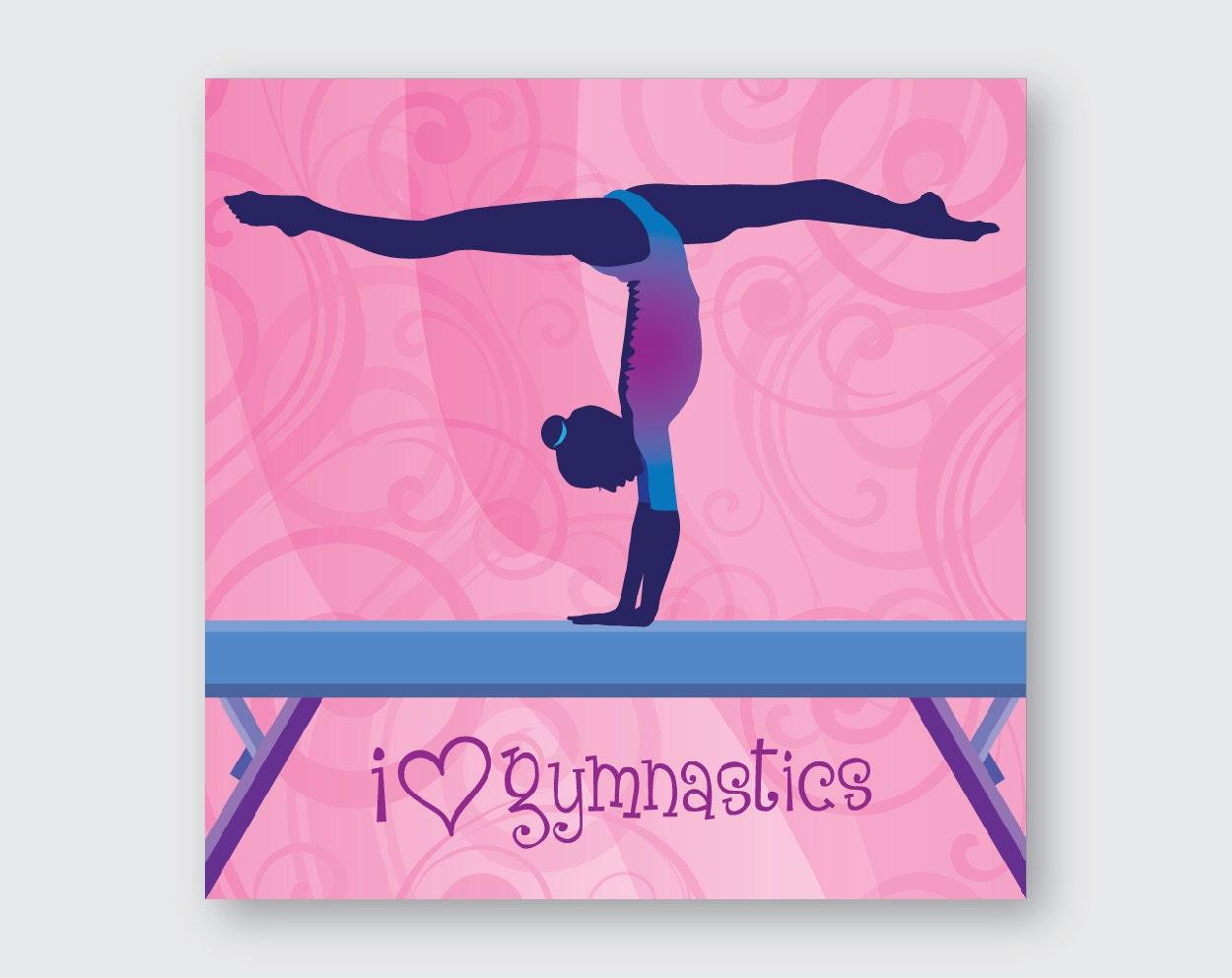 I Love Gymnastics Wall Art