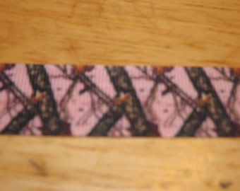 """Pink Realtree 7/8"""" Grosgrain Ribbon by the yard"""