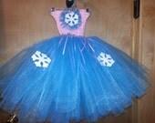 Winter SnowFlake Tutu Dress----infant sizes