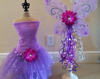 Purple Fairy Dress, Purple tutu, Purple Fairy Costume, Fairy Tutu, Fairy  Dress, Princess Tutu, Fairy Party Favors, Purple Fairy