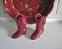 Ceramic Western Boots for that Cowboy or Cowgirl's Room, Wall Decor