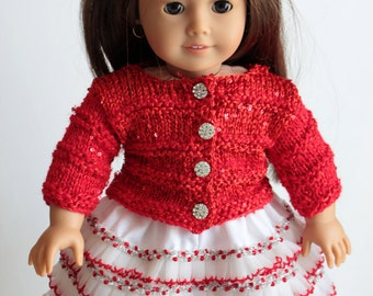 "Hand made cotton and lace skirt for American Girl Doll or ant 18"" doll"