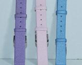 Pastel Pink Purple & Blue Watch Band Trio