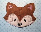 Fox Felt Puzzle, Fox Toy, Toddler Puzzle, Toddler Learning, Learning Toy, Busy Bag Toy, Fox Party, Loot Bag Toy, Quiet Toy, Educational Toy