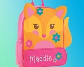 Backpack - Personalized and Embroidered - Sidekick Backpack - FOX