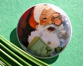 Vintage Style Santa Claus Classic Christmas Image 1.25'' Pinback Button (Badge) or Magnet