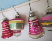 1950's Vintage  Fancy Shape Christmas Tree Ornaments - whatsoldisnew1