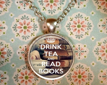 Book Necklace, Literature, Book Lover, Bookworm, Literacy Necklace, Library, Librarian, Heart, Love Books T1201
