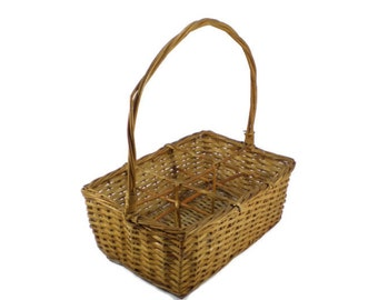 Popular items for divided organizer on etsy - Divided wicker basket ...