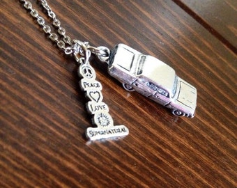 Peace Love Supernatural Necklace