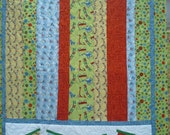 Baby Crib or Toddler Quilt -Choo Choo -- All Aboard - Riley Blake Scoot Fabrics by Deena Rutter- READY TO SEND