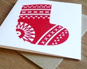 Handprinted Christmas Cards Pack of 3