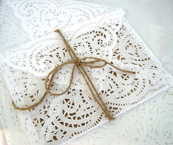 Items Similar To Wedding Invitation Doily Paper Lace