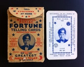 """Antique (1930's) """"Ingalls Wonderful Zodiac Fortune Telling Cards, """"Ingalls The Greatest Fortune Teller in the World""""  FREE Ship USA"""
