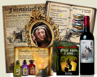FAIRYTALE PARTY DOWNLOAD murder mystery game, Once upon a time. Downloadable pdf file.