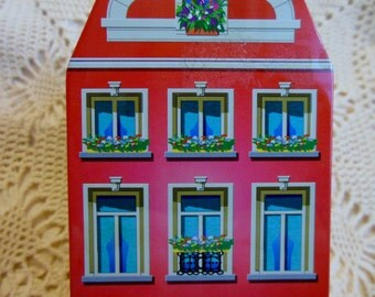 Old Fashioned Candy Tin Box * European CHOCOLATES Candy Shop * Tin Container * Christmas * Belgium Chocolates Candy Shoppe